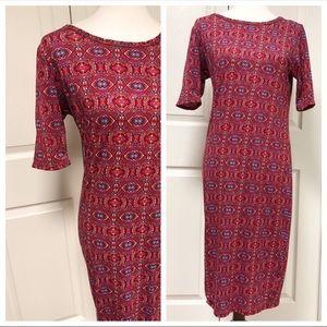 Lularoe Pink Aztec Julia Dress Size Medium New